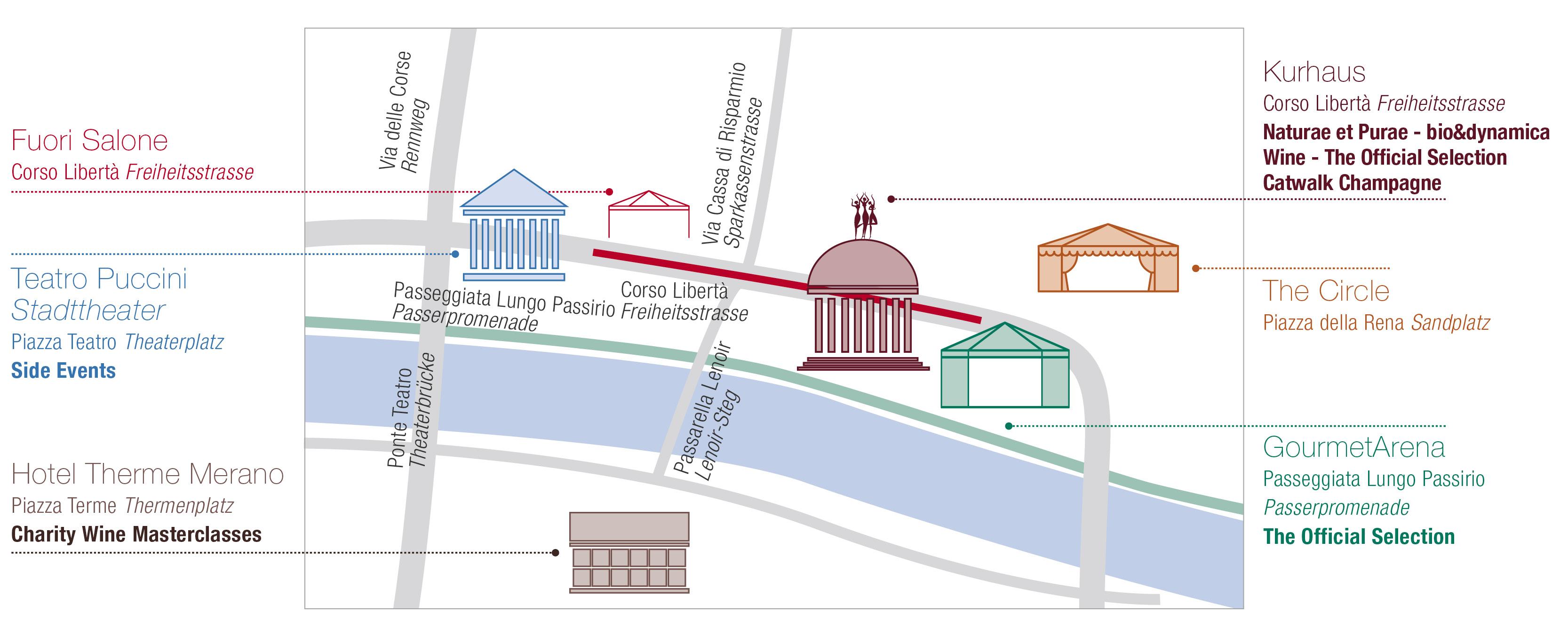 planimetria del merano winefestival